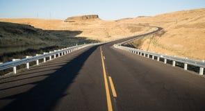 东部华盛顿沙漠高速公路利昂轮渡路 免版税图库摄影