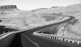 东部华盛顿沙漠高速公路利昂轮渡路 免版税库存图片