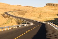 东部华盛顿沙漠高速公路利昂轮渡路 免版税库存照片