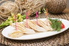东部卷 皮塔饼用乳酪 快餐,开胃菜 库存照片