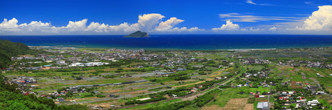 东部台湾的全景图象在夏天 库存图片
