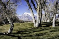 东部山脉临近加州主教, 库存照片