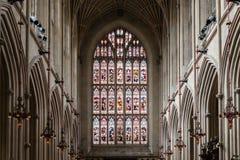 东部彩色玻璃在巴恩修道院里 图库摄影