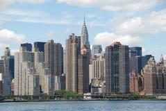 东部曼哈顿中间地区nyc地平线视图 库存图片