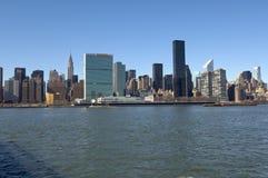 东部曼哈顿侧视图 免版税库存照片