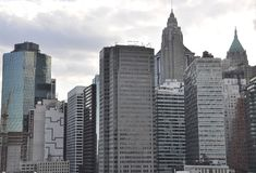 东部曼哈顿全景从纽约的在美国 库存照片
