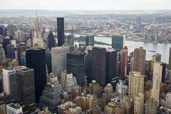 东部曼哈顿北部视图 免版税库存图片