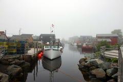 东部段落在有雾的天 免版税库存图片