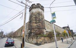 东部状态监狱在费城-费城-宾夕法尼亚- 2017年4月6日 免版税图库摄影