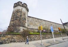 东部状态监狱在费城-费城-宾夕法尼亚- 2017年4月6日 库存照片