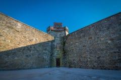 东部状态监狱监狱墙壁 免版税库存照片