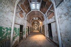 东部状态监狱走廊 免版税库存照片