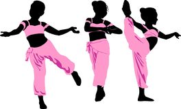 东部的舞蹈 向量例证