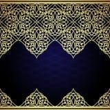 东部金银细丝工的装饰品背景 皇族释放例证