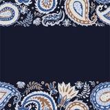 东部金银细丝工的装饰品背景 库存例证