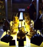 东部金黄古色古香的人工制品 免版税库存图片