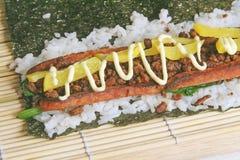 东部食物融合见面得西部 库存图片