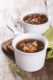 东部食物黎巴嫩扁豆中间名汤 免版税库存图片
