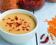 东部食物黎巴嫩扁豆中间名汤 库存图片