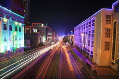 东部高速公路西方的青岛 免版税库存图片