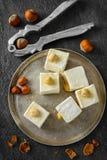 东部鲜美东方甜点或土耳其快乐糖 免版税库存照片