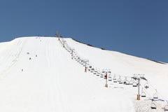 东部黎巴嫩中间滑雪 免版税库存图片