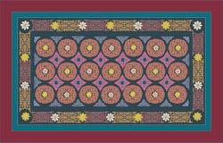东部,阿拉伯,中间亚洲人,波斯装饰品 色的颜色 地毯 皇族释放例证
