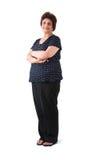 东部年长印第安夫人 免版税图库摄影