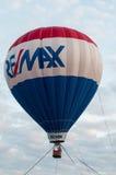 东部GOSHEN, PA - 6月21日:漂浮2014年6月21日的东部Goshen天的Remax气球 免版税库存图片
