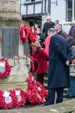 东部GRINSTEAD西部SUSSEX/UK - 11月13日:纪念仪式o 免版税库存照片