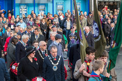 东部GRINSTEAD西部SUSSEX/UK - 11月13日:纪念仪式o 库存图片
