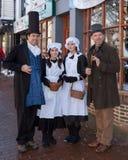 东部GRINSTEAD,西部SUSSEX/UK - 12月20日:Dickensian天 免版税库存图片