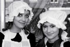 东部GRINSTEAD,西部SUSSEX/UK - 12月20日:Dickensian天 免版税图库摄影
