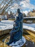 东部GRINSTEAD,西部SUSSEX/UK - 2月27日:McIndoe纪念品 免版税库存图片