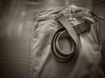 丝光斜纹棉布裤子 图库摄影