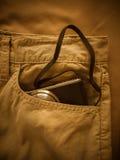 丝光斜纹棉布裤子 库存照片