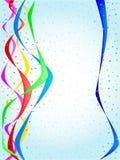 丝带和五彩纸屑党 库存照片