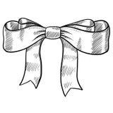 丝带和弓草图 图库摄影
