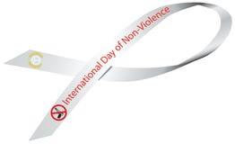 丝带国际天非暴力 免版税库存图片