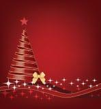 丝带圣诞树 免版税库存照片