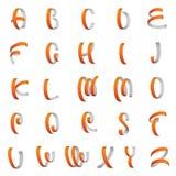 丝带字母表,拉丁字母传染媒介 向量例证