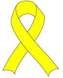 丝带支持队伍黄色 库存图片