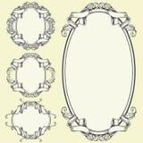 丝带框架和边界装饰品 皇族释放例证