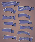 丝带横幅的汇集 免版税库存图片