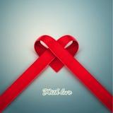 从丝带的心脏 库存例证