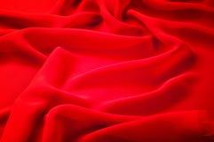 丝织物红色 丝绸透明硬沙心情是一种例外织品那 免版税库存照片