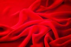 丝织物红色 丝绸透明硬沙心情是一种例外织品那 库存照片
