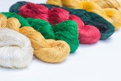 丝绸品种  库存照片