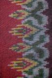 丝绸样式泰国丝织物无缝的编织样式纹理背景 免版税库存图片