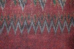 丝绸样式泰国丝织物无缝的编织样式纹理背景 免版税图库摄影